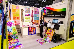 AIS designer Jennifer Topolewski at the Surtex trade show