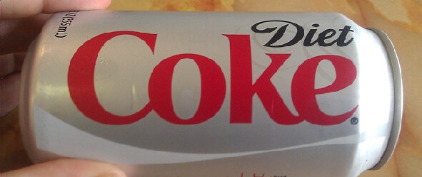 Type on a can of Diet Coke