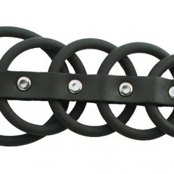 5 Ring Black Rubber Gates
