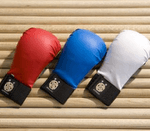 Various colors of sparring gloves