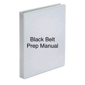 "Book icon with ""black belt prep manual"" superimposed on it"