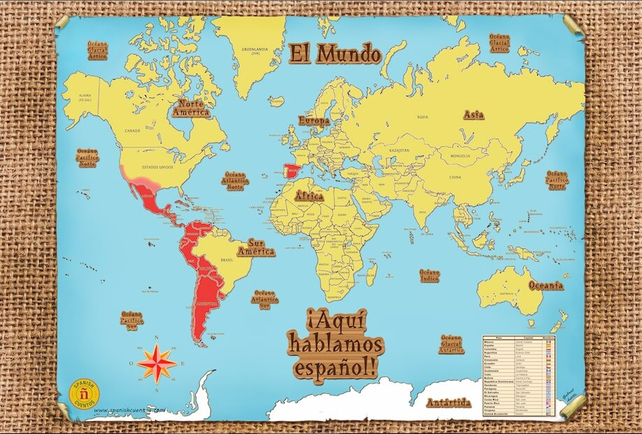 ¡Aquí hablamos español! World Map on map in europe, map in mongolia, map of north america, map with title, map distance between cities, map my route, map in nicaragua, map recipe, map of central america, map in canada, map in us, map of south america, map in amharic, map of spanish speaking world, map in honduras, map in greek, map in india, map history, map example, map of the,